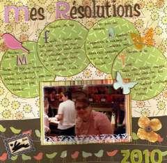Mes résolutions 2010