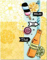 Relax Eat Drink featuring Hero Arts/BasicGrey Soleil Stamps