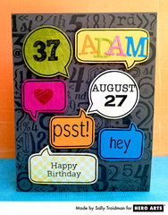 Adam's Card  By Sally Traidman