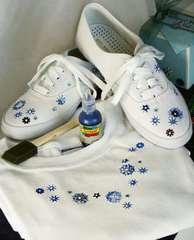Festive Shoes and Seasonal T-Shirt by Nancy Taylor