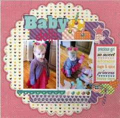 Baby Dolls Layout *Lifestyle Crafts Edge It/Tag It Release*