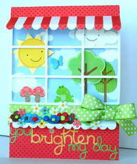 You Brighten My Day Window Card *Doodlebug*