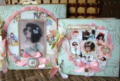 Vintage Baby Girl Chipboard album