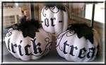 Trick or Treat white pumpkins
