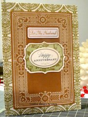 Happy Anniversary - For My Husband Card