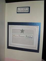 Inside of Blue Gray Layered Birthday - Kanban Crafts Sentiments