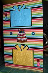 Happy Birthday - Embossing w/Die Cuts