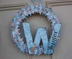 Winter Door Hanger