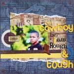 I ain't no cowboy (Scrap n Art Magazine layout)