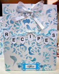 Recipe Folder for Baby Shower