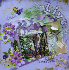 Live Life ~ July Ugly Paper Challenge