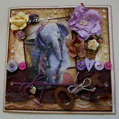 A purple elephant...