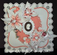 Peach Cameo Card