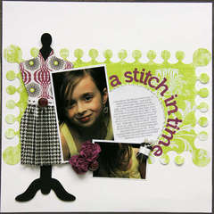 A stitch in time - ** My Scrapbook Nook March Ki**