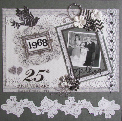 Layout 25th wedding anniversary for Anniversary craft ideas for parents