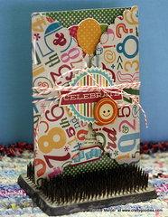 Scallop acrylic card~
