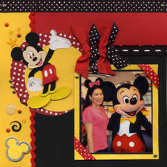 Mickey Red, Black & Yellow Left Page