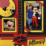 Mickey Red, Black & Yellow Right Page