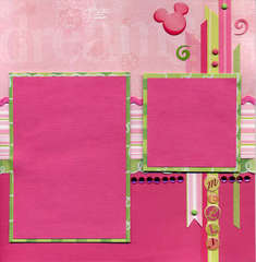 Minnie Pink & Green Right Page