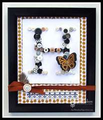 Button Monogram Frame