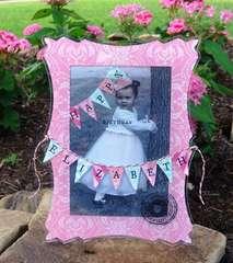 Happy Birthday Elizabeth Frame Card