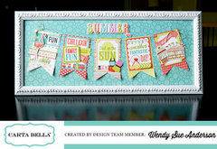 Framed decor with Carta Bella Paper
