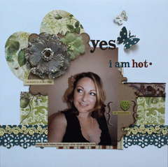 Yes! I am hot *Webster's Pages and Clear Scraps*