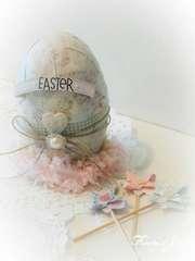Altered Easter egg for Melissa Frances