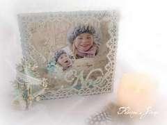 christmas frame 3d