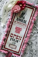 Kissing Booth Door Hanger- *SCRAPS OF ELEGANCE FEB KIT LOVESONG*