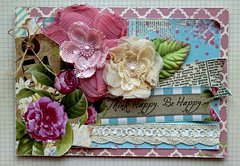 Think Happy- SCRAPS OF ELEGANCE APRIL KIT