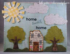 Home Sweet Home Canvas {Basically Bare}
