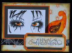 Halloween Eyes Card {Basically Bare}