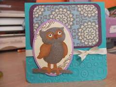 Sizzlit Owl Card