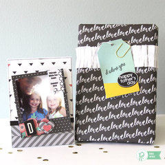 Father's Day Photo Frame Magnet Card and Simple Gift Wrapping *Pebbles*