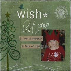 Wish list 2007