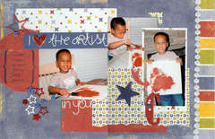 PUBLISHED: I {Heart} the Artist in You, Scrapbook PageMaps by Becky Fleck, Feb 2008