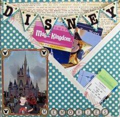 Disney memorbilia layout