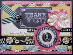Thank You 2 Card~ FotoBella DT