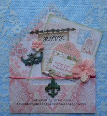 Gilded Lily Envelope and Invitation ~ FotoBella DT
