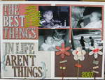 The Best Things in Life... Altered Canvas