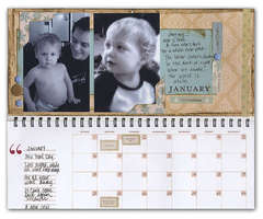 January Pages  -  Making Memories Calendar