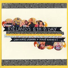 Ryeland's 8th Birthday