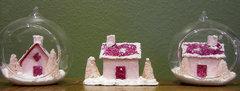 Mini glitter houses