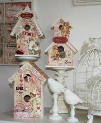 Altered Valentine Bird Houses
