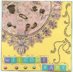 Baby card for Megan