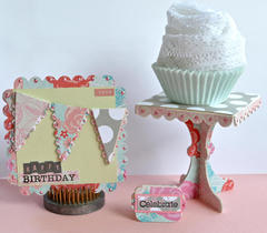 Cupcake Stand + Card by Pinky Hobbs