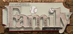 Acrylic Baseball Family Plaque