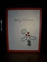Holly Christmas Card