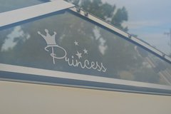 adhesive vinyl decal cut with Silhouette Cameo for our boat